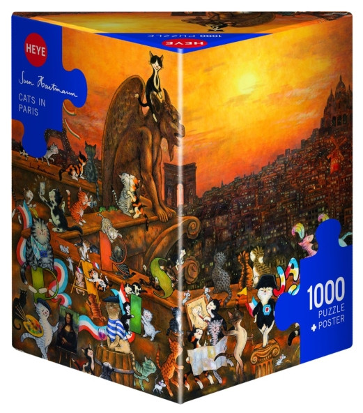 Puzzle Jacob - Cats in Paris 1000 Teile