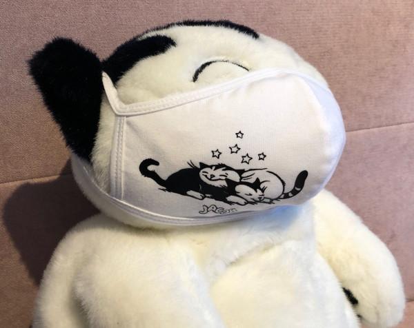NEU: Stoffmaske weiß Sternchen